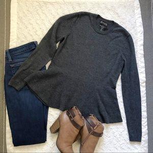Nanette Lepore Peplum Merino Wool Sweater